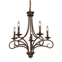 Gloucester 5 Light Chandelier In Weathered Bronze
