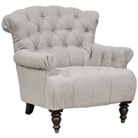 Classic Home Cream Tufted Lounge Chair 292789