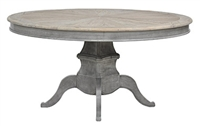 Classic Home Lime Washed Round Dining Table 292891