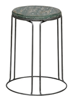 Classic Home Rustic Green Round Stool 293595