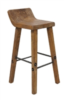 Classic Home Wooden Low Back Barstool 293597