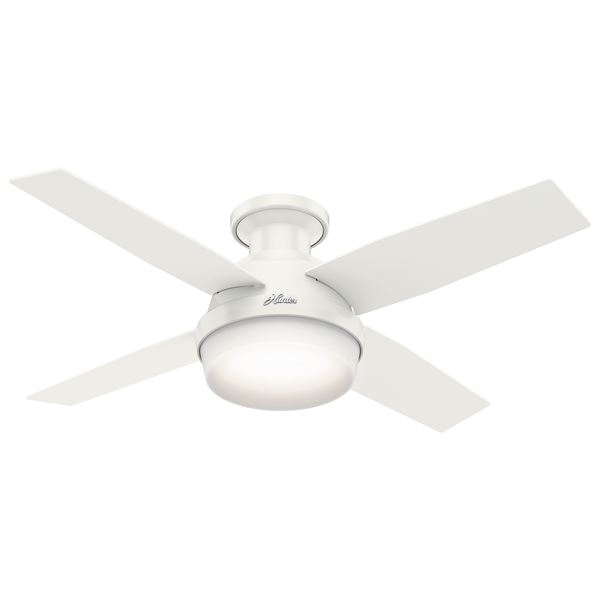 "44"" Dempsey Low Profile Ceiling Fan with Light"