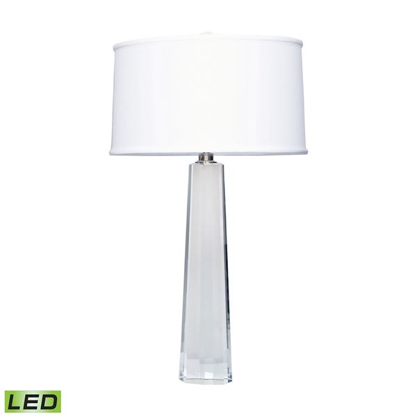 Crystal Faceted Column LED Table Lamp