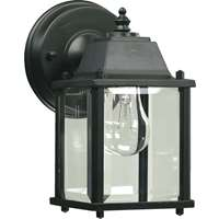 Signature 1-Light 9-Inch Black Outdoor Wall Lantern