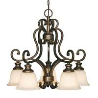 Golden Heartwood 5 Light Nook Chandelier Burnt Sienna 8063-D5 BUS