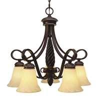 Golden Torbellino 5 Light Nook Chandelier Cordoban Bronze 8106-D5 CDB