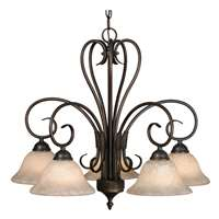 Golden Homestead RBZ 5 Light Nook Chandelier - Same as 8606-D5 RBZ Rubbed Bronze 8606-D5 RBZ-TEA