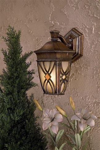Minka-Lavery Aston Court Pl 1 Light Outdoor Wall Mount in Aston Patina Finish - 9181-184-PL
