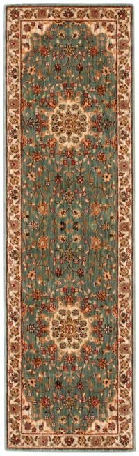 "Kathy Ireland Ancient Times ""Palace"" Teal Area Rug"