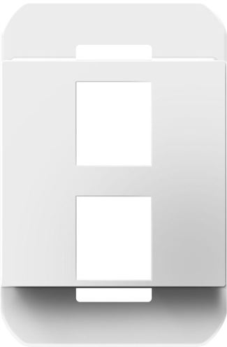 Legrand Adorne 2-Port Frame in White Finish - AC2PFW1