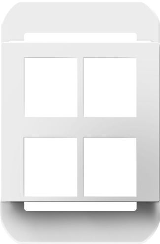 Legrand Adorne 4-Port Frame in White Finish - AC4PFW1