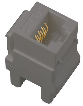 Legrand Adorne Cat 5e RJ45 Data / Phone Insert in Magnesium Finish - AC5ERJ45M1