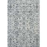 Alexandria 24 Light Blue Power-Loomed Area Rug 2'x3' by Amer