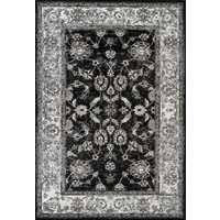 Alexandria 44 Black Power-Loomed Area Rug 2'x3' by Amer