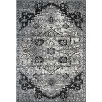 Alexandria 49 Dark Gray Power-Loomed Area Rug 2'x3' by Amer