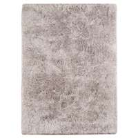 Metro 11 Light Gray Shag Area Rug 2'x3' by Amer