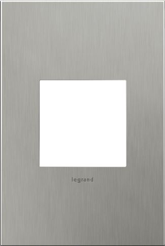 Legrand Adorne Brushed Stainless Steel Switch Plate in Brushed Stainless Steel Finish - AWC1G2BS4