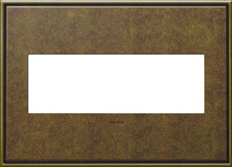 Legrand adorne Aged Brass Switch Plate in Aged Brass Finish - AWC3GAB4
