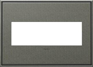 Legrand adorne Brushed Pewter Switch Plate in Brushed Pewter Finish - AWC3GBP4