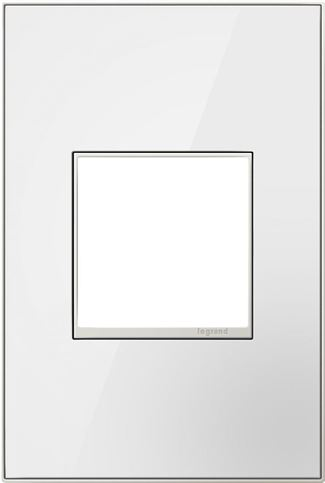Legrand Adorne Mirror White Switch Plate in Mirror White Finish - AWM1G2MW4