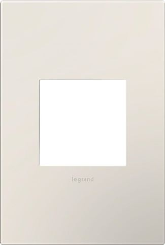Legrand Adorne Satin Light Almond Switch Plate in Satin Light Almond Finish - AWP1G2LA6