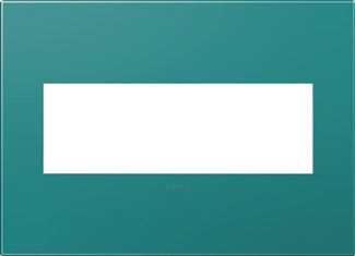 Legrand Adorne Turquoise Switch Plate in Turquoise Finish - AWP3GTB4