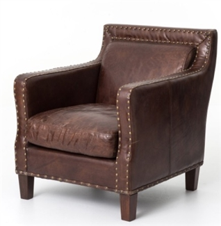 FOUR HANDS ALCOTT CLUB CHAIR-CIGAR