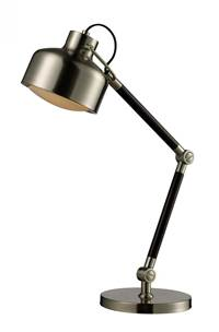 Dimond  Mount Vernon  Desk Lamp in Espresso Wood and Satin Nickel with Satin Nickel Shade D2178