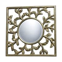 Sterling Oviedo Mirror In Antique Silver With Gold  DM1925