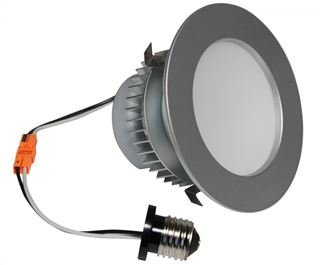 "American Lighting E-PRO 4"" DOWNLIGHT, 2700K, E26 BASE, BS TRIM, 7.5W, 525 LM Brushed Steel EP4-E26-27-BS"