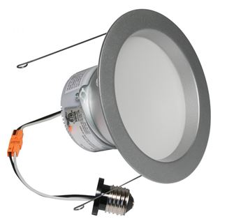 "American Lighting E-PRO 6"" DOWNLIGHT, 2700K, E26 BASE, BS TRIM, 10W, 700 LM Brushed Steel EP6-E26-27-BS"