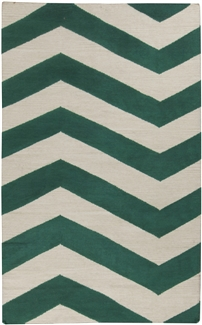 Surya Frontier Emerald and Ivory 5x8 Rug FT-537-58