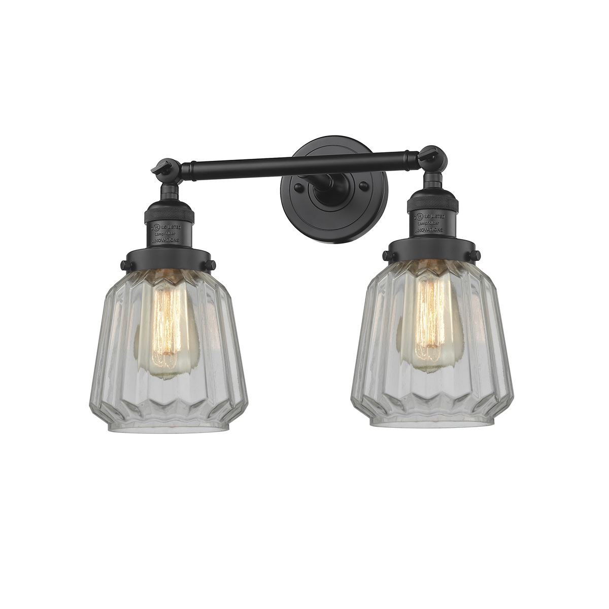 Innovations Chatham 2 Light Dimmable LED Bathroom Fixture - Black ...