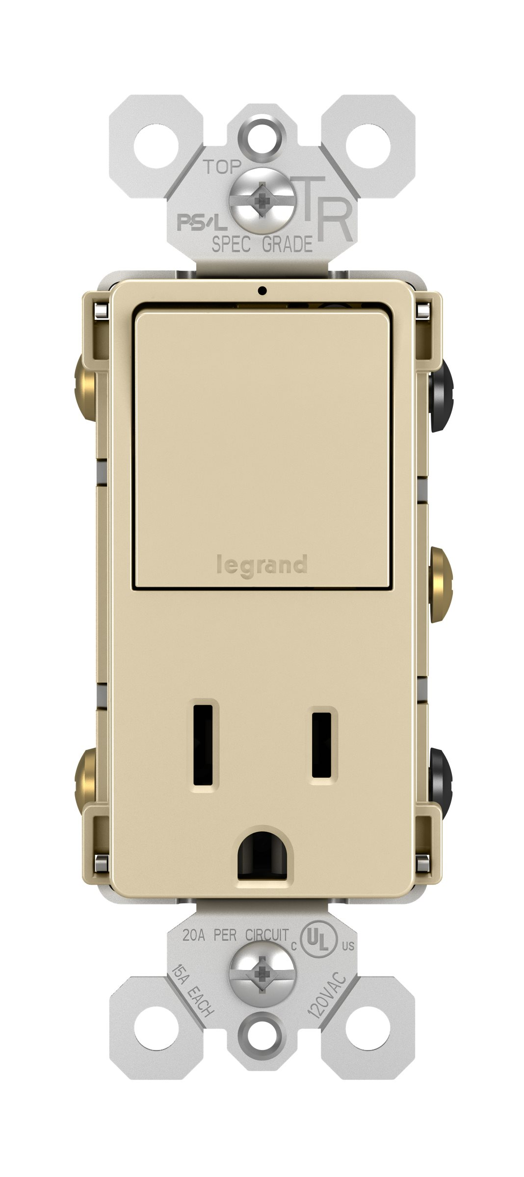 Legrand Radiant Single Pole 3 Way Switch 15a Tr Outlet Ivory Wiring A