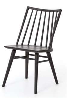 FOUR HANDS LEWIS WINDSOR CHAIR-BLACK OAK